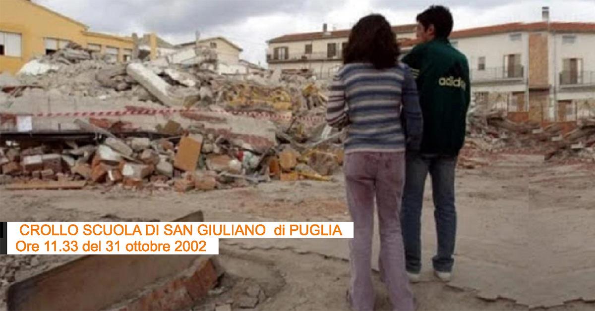 crollo scuola di giuliano terremoto